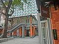 HK 北角 North Point 油街實現 Oil Street Art Space red brick house Mar-2014 gallery n front garden tree.JPG