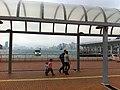 HK Central Waterfront Promenade covered walkway view Victoria Harbour Nov-2012.JPG