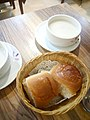 HK Kwun Tong 成業街 7 Shing Yip Street 東廣場 Eplaza 花園餐廳 Sweetheard Garden Restaurant food bread white soup May 2017 Lnv2.jpg