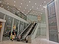 HK TST 港威大廈 The Gateway entrance lobby interior night Sept-2013 escalators n wall picture.JPG