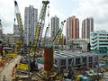 HK YL 元朗 Yuen Long 朗屏站 Long Ping MTR Station view construction site nearby April 2016.JPG