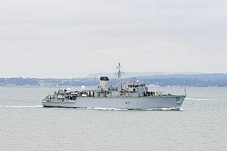 Mine countermeasures vessel - HMS Chiddingfold in 2013.