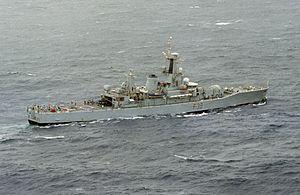 HMS Naiad (F39) in the North Atlantic c1982.JPEG