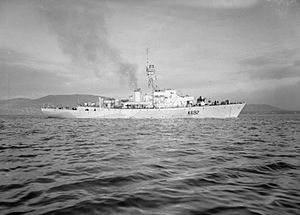 HMS Oxford Castle (K692) - Image: HMS Oxford Castle 1944 IWM FL 17215