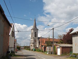 Halloy, Pas-de-Calais - The church of Halloy