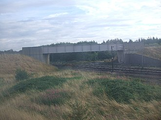 Hambleton Junction - Hambleton Junction, showing the Leeds to Selby Line passing over the East Coast Main Line