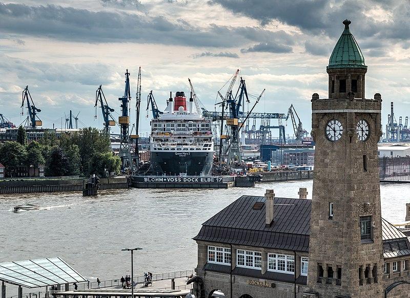 File:Hamburg, Hafen, Kreuzfahrtschiff -Queen Mary 2- -- 2016 -- 3159-65.jpg