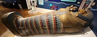 The Mummy (1959 film) - The sarcophagus prop in Perth Museum and Art Gallery