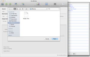 Sidebar (computing) - A screenshot of HandBrake depicting a drawer opened on the right