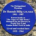 Hannah Billig blue plaque.jpg