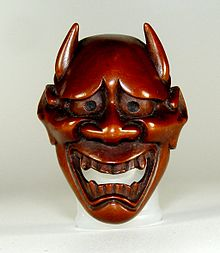 18th century netsuke mask of hannya