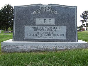 Harold B. Lee - Image: Harold B Lee Grave