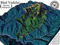 Harta 3D pentru Bazinul hidrografic al Vadului, afluent al Oltului.jpg