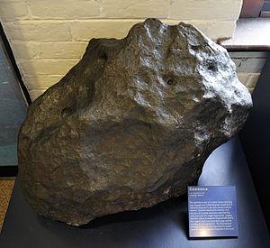 "Daubréelite - Coahuila meteorite fragment (""type locality""), Mineralogical Museum, Natural History Museum, Harvard University"