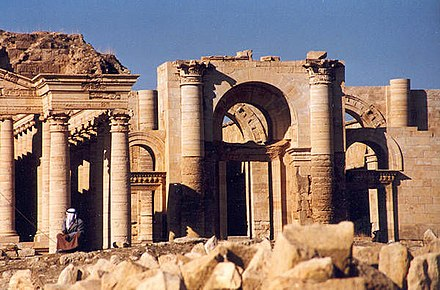 Flourished in the 2nd century, the strongly fortified Parthian city of Hatra shows a unique blend of both Classical and Persian architecture and art. Hatra ruins.jpg