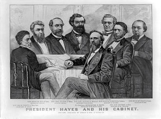 Presidency of Rutherford B. Hayes - Hayes's cabinet in 1877