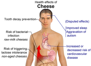 Health effects of cheese consumption (See Wiki...