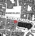 Heilbronn, Herberge zur Krone, Kaiserstraße 34 und 36 (überarbeitet nach Archäolog. Stadtkataster Karte 4, Nr. 231).jpg