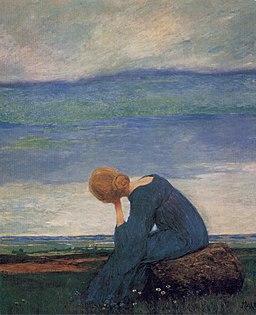 Heinrich Vogeler Sehnsucht (Träumerei) c1900