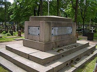 Nikolai Bodisko - Admiral Bodisko's grave at the Orthodox cemetery in Helsinki.