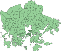 Position of Kulosaari within Helsinki