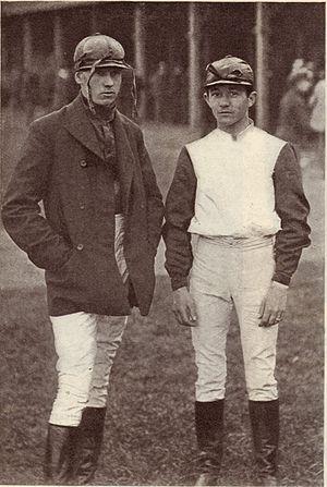 George E. Smith (gambler) - Jockeys Skeets Martin (left) and Tod Sloan at Morris Park Racetrack in 1899.