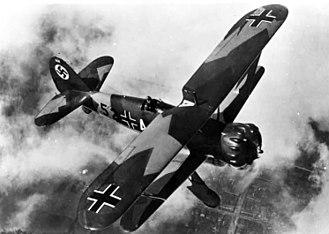 Henschel Hs 123 - Image: Henschel Hs 123 in flight