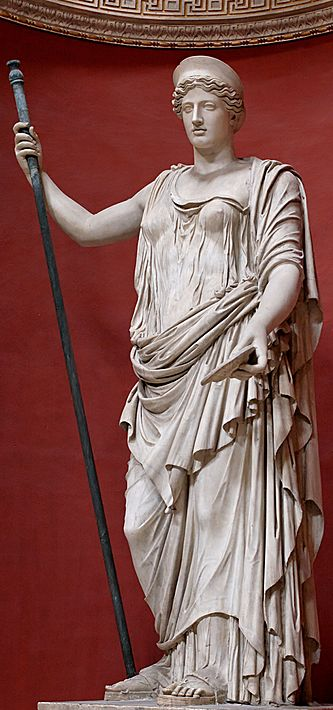 Marble Statue of the Greek Goddess Hera
