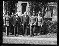 Herbert Hoover with group outside White House, Washington, D.C. LCCN2016889707.jpg