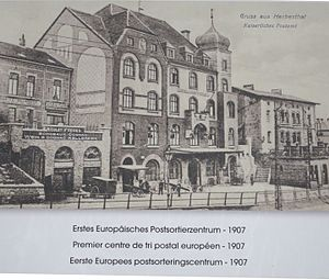 Herbesthal Railway Station - Image: Herbestal Europes first international mail sorting centre 1907