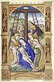 Heures de Charles VIII 014R Descente de croix.jpg