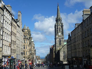 Royal Mile succession of streets forming the main thoroughfare of the Old Town of the city of Edinburgh in Scotland