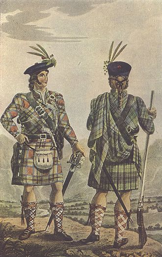 Scottish clan - A romantic depiction of Highland Chiefs from 1831