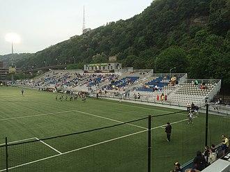 Pittsburgh Riverhounds SC - Image: Highmark Stadium Main Stand