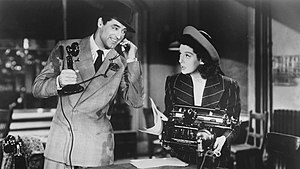 His Girl Friday - Cary Grant and Rosalind Russell.