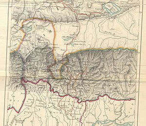 Historical Map of Sikkim in northeastern India.jpg