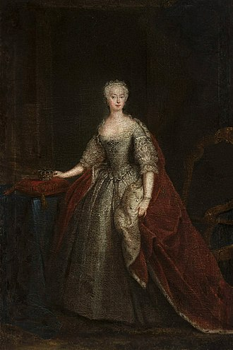 Princess Augusta of Saxe-Gotha - One of the first portraits of Augusta of Saxe-Gotha as Princess of Wales by William Hogarth, 1736-1738, National Museum in Warsaw