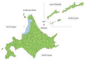 Rumoi Subprefecture - Image: Hokkaido Map Rumoi subprefecture en