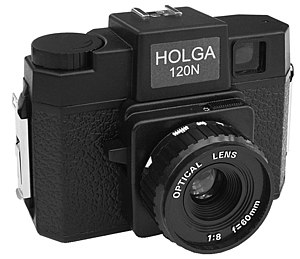 English: Front picture of a Holga camera
