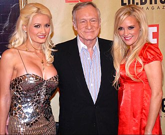 Hugh Hefner - Hefner with his then-partners Holly Madison (left) and Bridget Marquardt, 2007