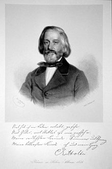 Lithography of Karl von Holtei (Source: Wikimedia)