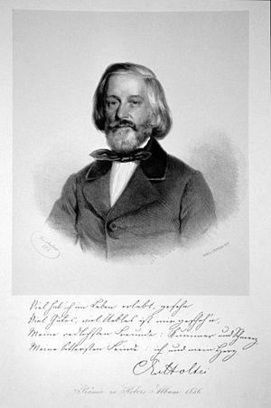 Karl von Holtei - Lithography of Karl von Holtei