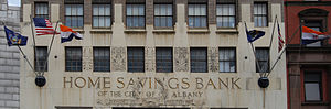 Home Savings Bank Building - Image: Home Savings Bank Detail