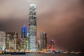 Hong Kong skyscrapers in a night of typhoon.jpg
