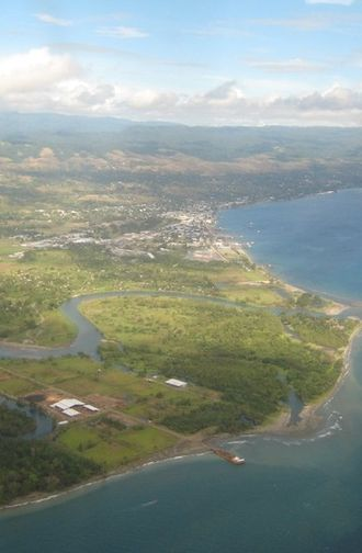 Honiara - View of Honiara from the east.