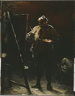 Honoré Daumier - The Painter at His Easel - Google Art Project