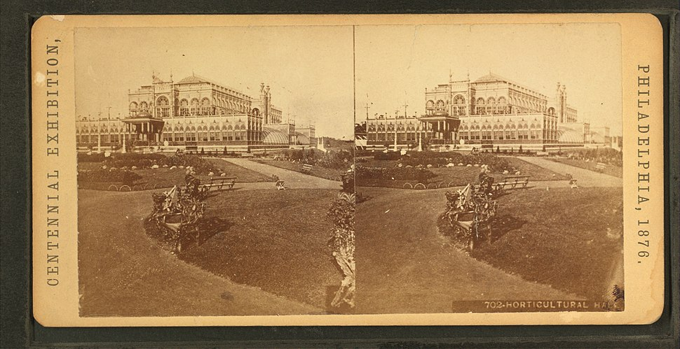 Horticultural Hall, from Robert N. Dennis collection of stereoscopic views 3