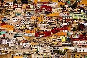 A slum in Pachuca, Mexico.