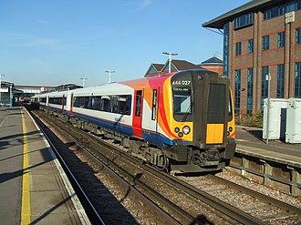 South Western Railway (train operating company) - Image: Hugh llewelyn 444 001 (6331353119)