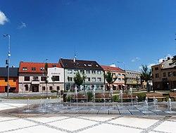 Hulín, náměstí, fontána.jpg